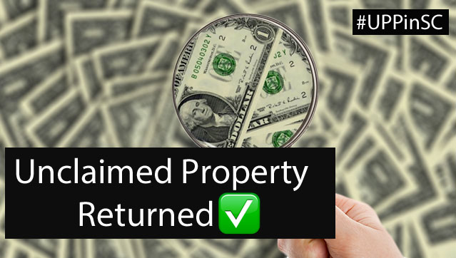 Unclaimed Property Returned