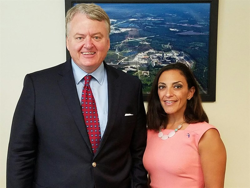 Treasurer Loftis with Katie Arrington