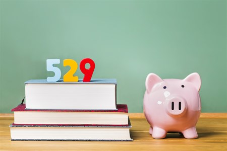 529 Books And Piggy Bank