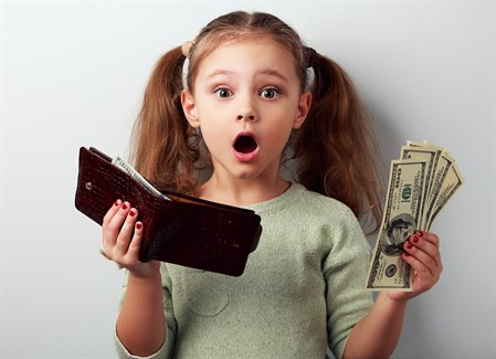 Girl With Wallet Money