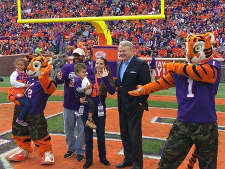Clemson Mascots With Treasurer